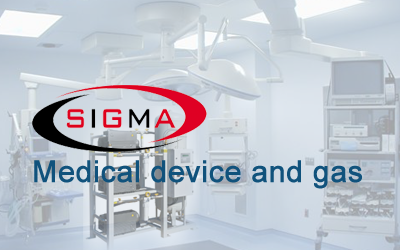 Medical device and gas